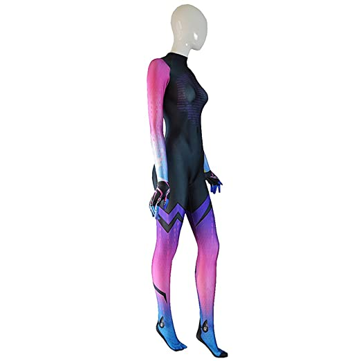 Amazon.com: Sombra Costume Overwatch Undersuit Girl Game Cosplay Suit: Clothing