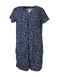 International Intimates Women's Plus Size Terry Zippered Cover-up Robe with Pockets