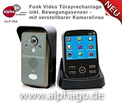 ALP304 - Videoportero inalámbrico (sensor de movimiento, pantalla de3,
