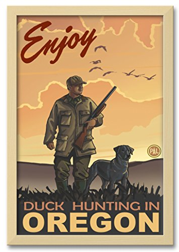 Northwest Art Mall Enjoy Duck Hunting In Oregon Professionally Framed Wall Decor by Paul A. Lanquist. Print Size: 12