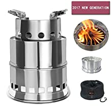 SOLEADER Portable Wood Burning Camp Stoves Compact Gasifier Wood Stove Bio Stove for Camping, Hiking, Backpacking The 3rd Generation