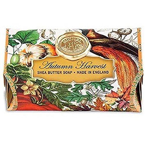 Michel Design Works Oversized Triple Milled Bath Soap Bar, Large, Autumn Harvest, 8.7 Ounce (Design Autumn)