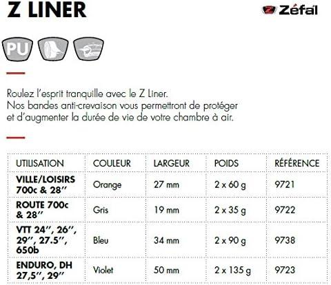 ZEFAL Z-Liner Bande anti-crevaison pour pneu vélo - Haute résistance
