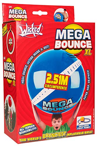 Mega Ball - Wicked Mega Bounce XL Inflatable Ball, Colors Will Vary