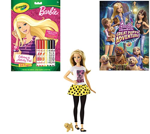 [Barbie Gift Set, 3 Item Bundle Includes Barbie Doll with Puppy, Barbie Great Puppy Adventure DVD and Barbie Coloring and Activity Pad] (Holmes On Homes Costumes)