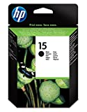Hp Hewlett Packard Ink Inkjet Black Print Printer Fax Printer Copier Cartridge No 15 ( 15D  C6615D C6615De )