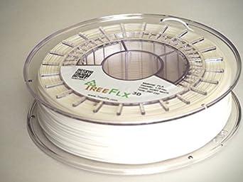 TreeFLX 3D Premium European PLA 3D Printer Filament, 750g Spool,-1.75mm- Ivory White Dimensional Accuracy +/- 0.03 mm