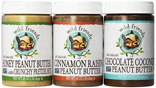 Wild Friends Peanut butter 3 pack: honey pretzel + cinnamon raisin + chocolate (Wild Squirrel)