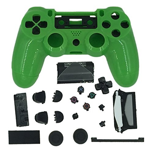 GameXcel ®Green Replacement Playstation 4 Controller Shell Case Kits Buttons