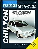 Chilton Volkswagen Golf/GTI / Jetta/Cabriolet 1999-2005 Repair Manual (70403)