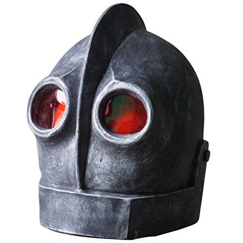 Hongzhi Craft The Iron Giant Head Mask Halloween Robot Latex Mask Cosplay Alien Costume -