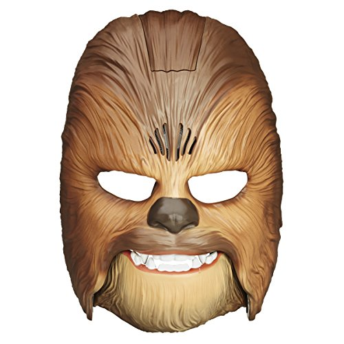 Star Wars Movie Roaring Chewbacca Wookiee Sounds Mask, Funny GRAAAAWR Noises, Sound Effects, Ages 5 and up, Brown (Amazon -
