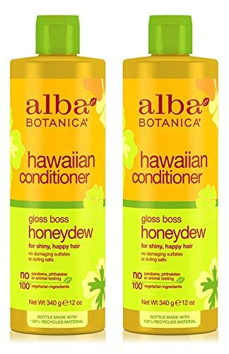 (Hawaiian Conditioner Gloss Boss Honeydew (Pack of 2) With Sunflower, Jojoba, Aloe Vera, Pineapple Papaya, Melon, Ginger, Soy, Limonene, Linalool and Macadamia Seed, 12 oz. each)