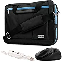 "EL Prado 3-in-1 Hybrid Aqua Trim Laptop Bag w/ Wireless Mouse and USB HUB for HP Omen / ENVY / Pavilion / EliteBook / ProBook / Spectre / Stream / ZBook / Mobile Thin Client ""14-15.6in"