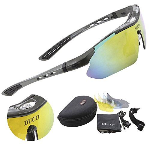 Duco Radsportbrille Outdoor-Sport treibenden Sonnenbrille polarisierte Veränderbare 5 Linsen UV400 SP0868