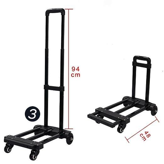 MOXIN Carro de equipaje - carrito de compras portátil plegable supermercado almacén trailer: Amazon.es: Hogar