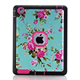 iPad 2 3 4 Case, BasicStock Ultra Slim Soft Silicone PC Hybrid Smart Lightweight Case with Auto Sleep/Wake Function, Hard Back Cover for iPad 2 3 4 (Hot Pink)