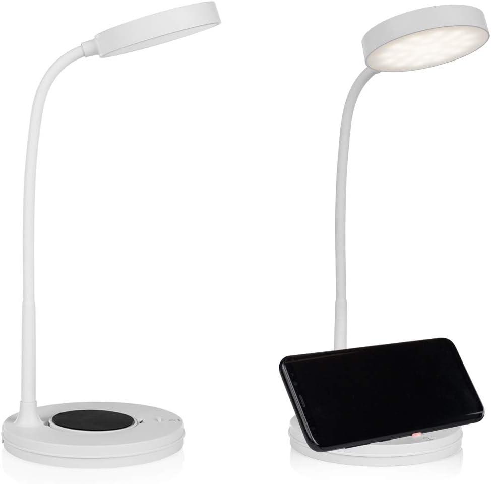 Juego de 2 lámparas de mesa LED con cabezal de luz orientable ...
