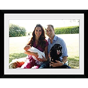 "Prince William and Kate Family Picture | Classic Framed Picture 16"" x 12"""