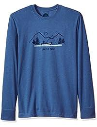 Men's Crusher Long Sleeve Lake It Easy Htvnbl T-Shirt,