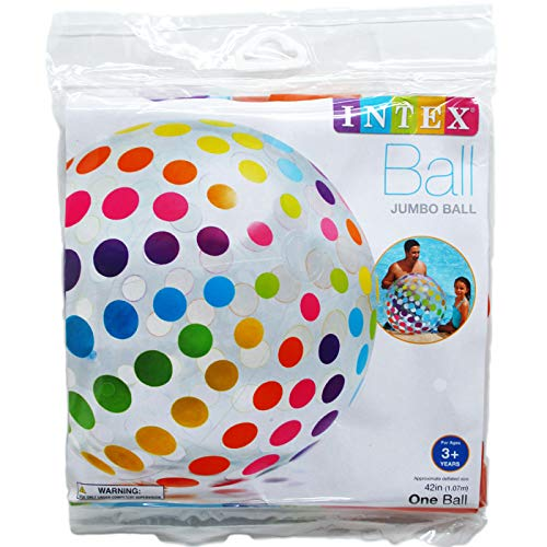 DollarItemDirect 42'' Jumbo Beach Ball in PEGABLE Poly Bag, Age 3+, Case of 24