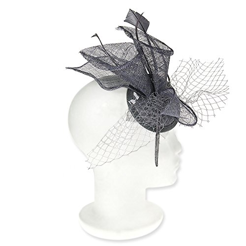 Occasion Hats for Women, Lily Flower Duo Fascinator for Weddings or the Races, with netting and light feathers. Beautifully Sculptured, and great value for a 3 piece Set.Four colour options. Our 'Royal Hillsborough' Fascinator.