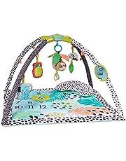Infantino 4-i-1 Milestones & Memories lekmatta – sensorisk-stimulerande lekfilt för spädbarn och småbarn – Activity Gym med roliga leksaker för ultimat kul