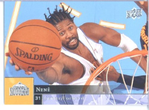 2009 /10 Upper Deck Basketball Card # 45 Nene Nuggets Mint Condition - Shipped in Protective ScrewDown Display Case! (Condition Nuggets Mint)