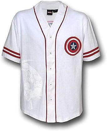 Marvel Rogers Base Jersey Hombres Camiseta de Color Blanco ...