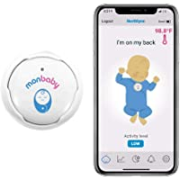 MonBaby Rechargeable Baby Monitor with Breathing, Rollover and Temperature Sensors: Track Baby's Breathing, Body…