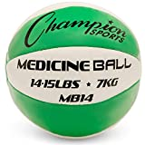 Champion Sports Exercise Medicine Balls, 14-15 lbs,...