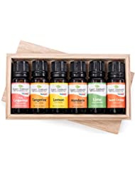 Plant Therapy FRUITS- 6 Essential Oil Sampler Set. Includes 100% Pure, Undiluted Essential Oils of: Sweet Orange, Pink Grapefruit, Lime, Lemon, Tangerine and Mandarin. 10 ml (1/3 oz) each.