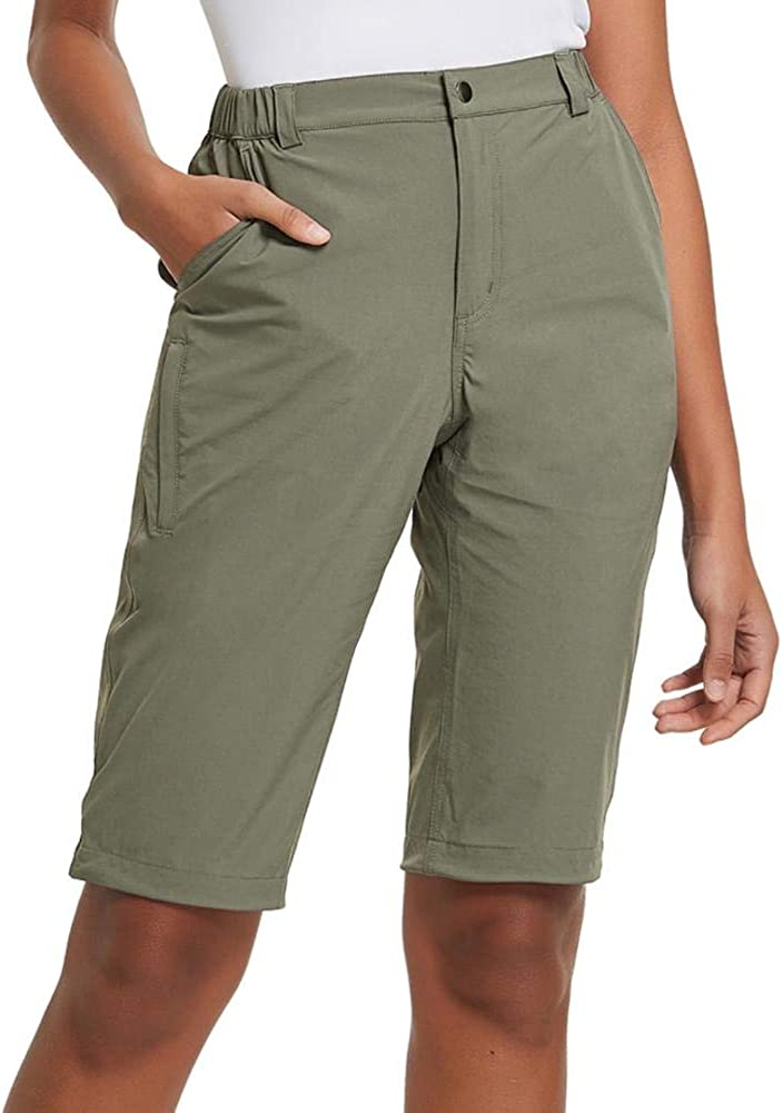BALEAF Women's Quick Dry Stretch Hiking Camping Shorts Lightweight Water Resistant Summer Cargo Pants Travel