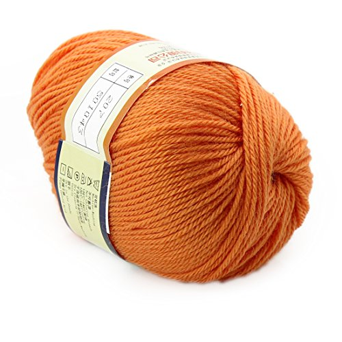 joylive Soft Wool Worsted Sweater Cashmere Knitting Knitted Warm Baby Yarn 50g Gamboge