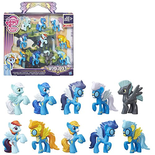 My Little Pony Friendship is Magic - Wonderbolts Cloudsdale Mini Collection ( Target Exclusive) - 2-inch Pony Figures, The Collection of 10 Includes: 9 Wonderbolts and 1 Rainbow Dash Pony Figures