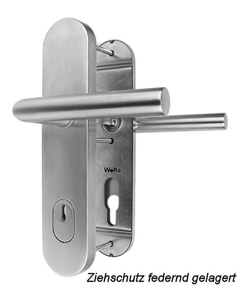 Häufig Edelstahl Schutzbeschlag für Haustüren ES 1 Drücker / Drücker mit SR36