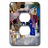 Danita Delimont - objects - Australia, Victoria, Melbourne, love locks on Yarra River footbridge. - Light Switch Covers - 2 plug outlet cover (lsp_226273_6)