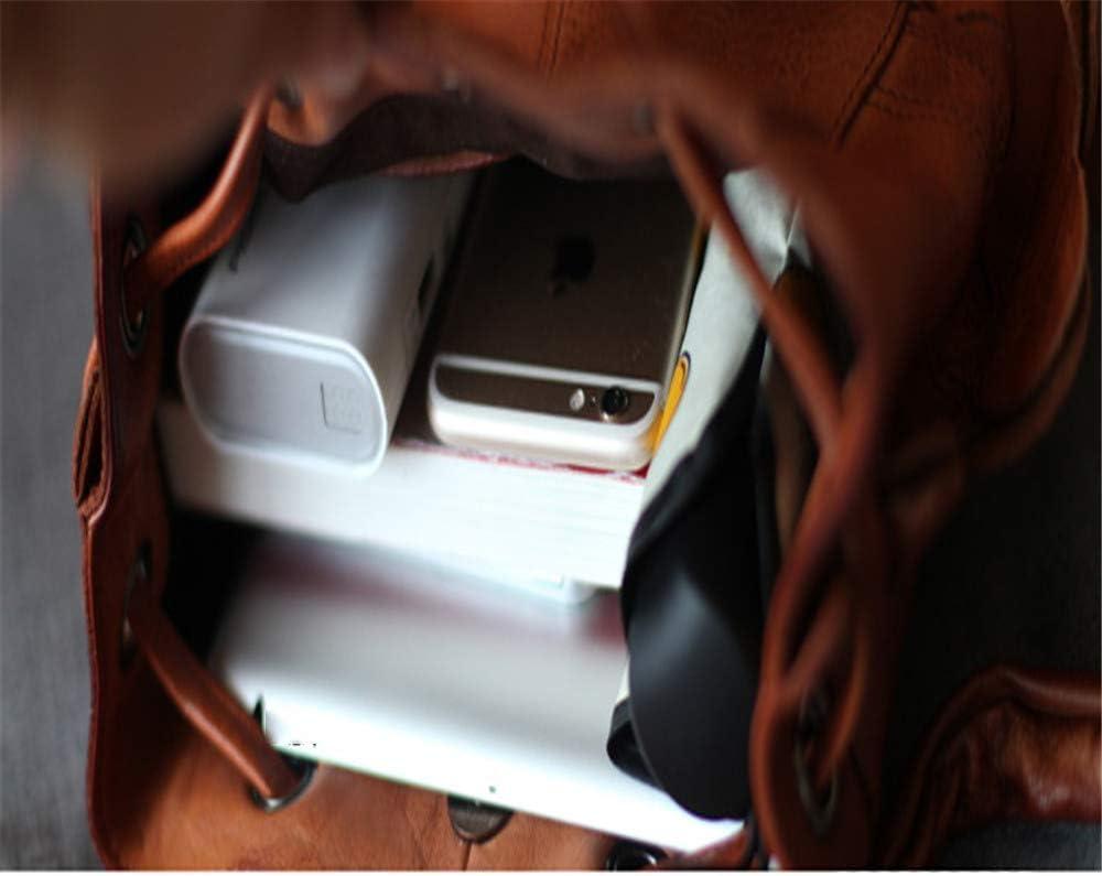 Climb Backpack Backpack Shoulder Bag Dual-use Casual Bag Shoulder Bag Unisex Retro Leather Hiking Backpack Travel Outdoor Bag