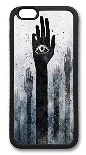 iPhone 6 Cases, Weird Illuminati All Seeing Eye Durable Soft Slim TPU Case Cover for iPhone 6 4.7 inch Screen (Does NOT fit iPhone 5 5S 5C 4 4s or iPhone 6 Plus 5.5 inch screen) - TPU Black