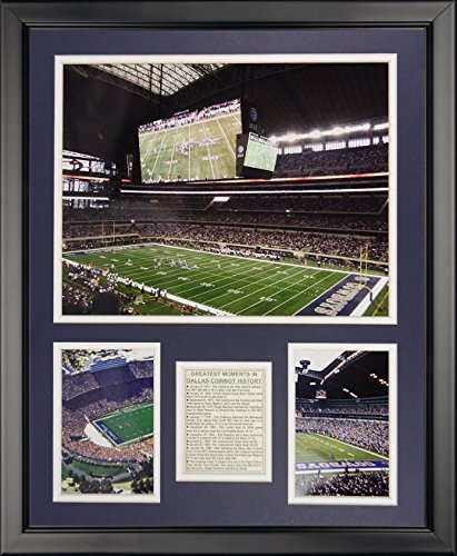 Legends Never Die Dallas Cowboys - All Cowboy Stadiums Framed Photo Collage, 16