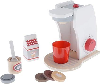 Juguete de Electrodomésticos de Simulación de Madera Decoración para Casa de Muñecas - cafetera: Amazon.es: Juguetes y juegos