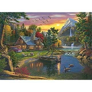 Buffalo Games - Kim Norlien - Mountain Paradise - 1000 Piece Jigsaw Puzzle, Multi