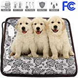 wangstar Pet Heating Pad, Warm Pet Heat Mat Dogs Cats with Chew Resistant Cord, Waterproof Electric Heating Pad