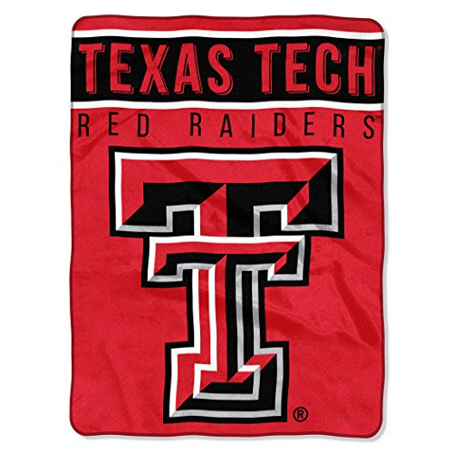 "The Northwest Company Officially Licensed NCAA Texas Tech Red Raiders Basic Raschel Throw Blanket, 60"" x 80"", Red"
