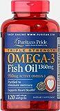 omega triple - Puritans Pride Triple Strength Omega-3 Fish Oil 1360 Mg (950 Mg Active Omega-3), 120 Count