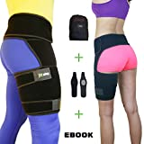 (US) Hip Support Brace - Compression Groin Support for Men Women - Hip Stabilizer - Sciatic Nerve Pain Relief - Hip Flexor Brace - Hip Arthritis - Adjustable Thigh Compression Sleeve - Muscle Recovery