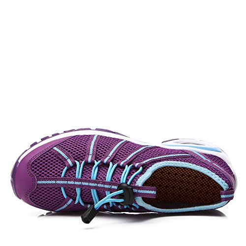 Walking Enllerviid Jogging Bottom On Platform Purple Slip Women Thick Shoes with Fitness Running A17803 Upq0TU