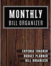 Monthly Bill Organizer: My monthly bill planner with income list,Weekly expense tracker ,Bill Planner, Financial Planning Journal Expense Tracker Bill Organizer Notebook