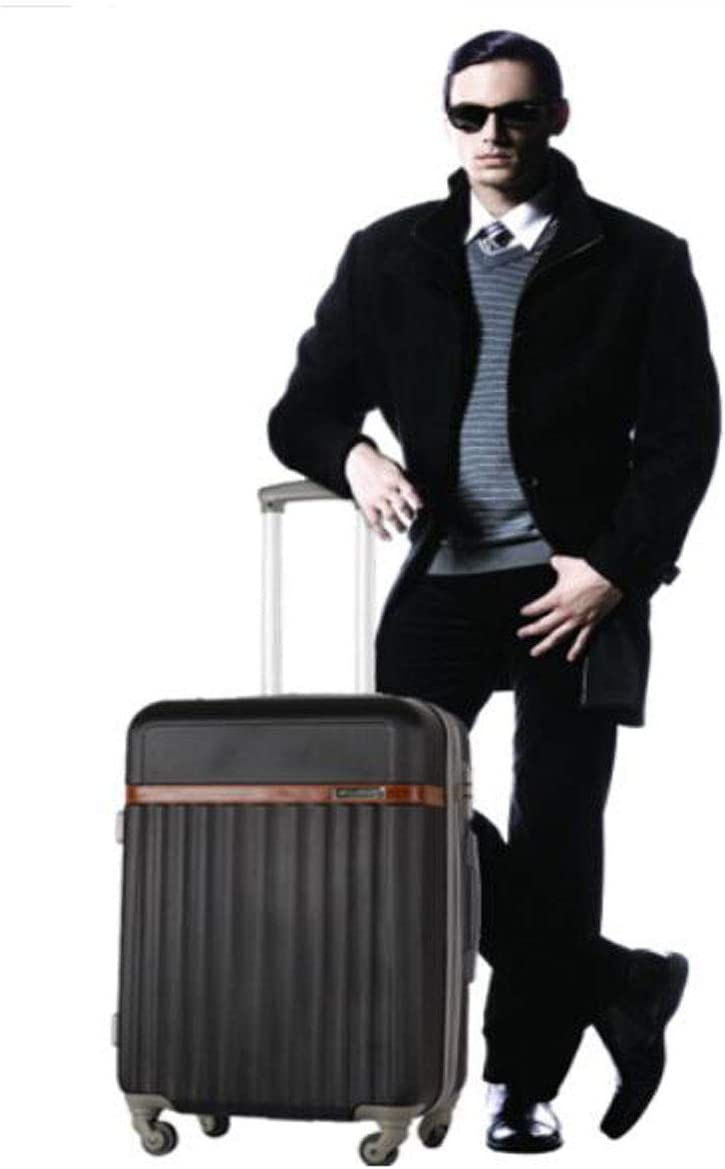 Black Size 38 24 59 cm Aishanghuayi Suitcase for Lightweight Hard-Shell Expandable Business Suitcase Color : Black, Size : 161024 inch