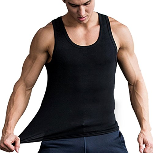 Mens+Tank+Tops Products : Tank Tops for Men Sleeveless A-Shirts100% Combed Cotton Undershirt